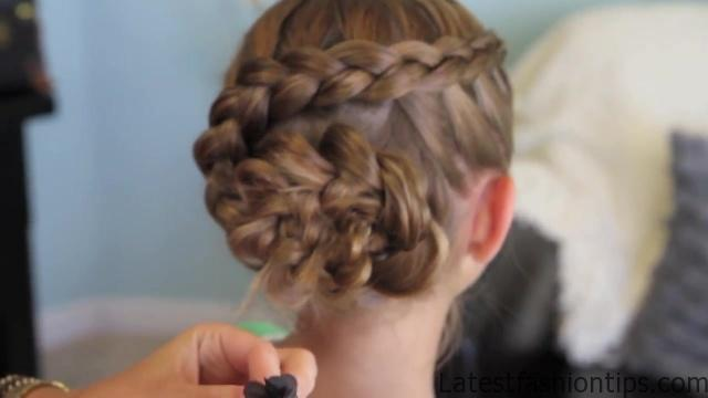 Dutch Flower Braid _ Updos _ Cute Girls Hairstyles_HD720 29
