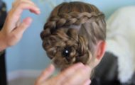 Dutch Flower Braid _ Updos _ Cute Girls Hairstyles_HD720 30