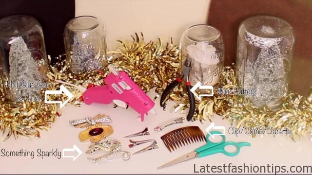 Easy DIY Sparkly _ Statement Hair Accessories!_HD720 3