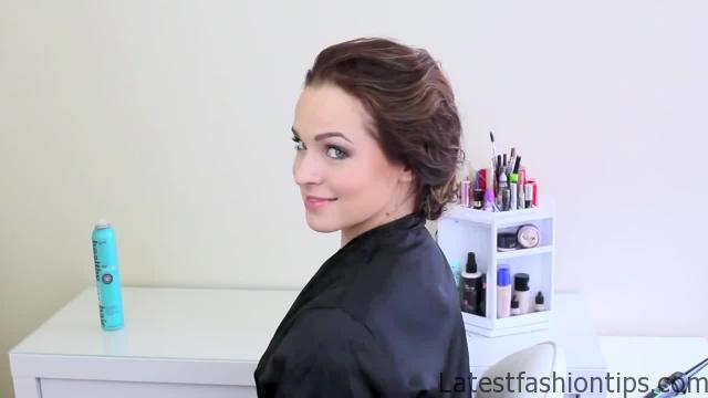Easy Updo Inspired by Jennifer Lawrence's Golden Globes Style_HD720 2