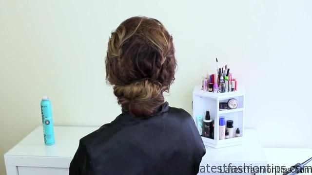 Easy Updo Inspired by Jennifer Lawrence's Golden Globes Style_HD720 8