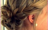 Accent Braid into Messy Bun Hairstyles_1.jpg