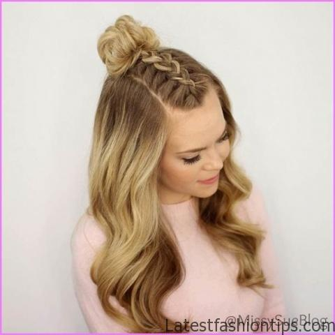 Accent Braid into Messy Bun Hairstyles_13.jpg