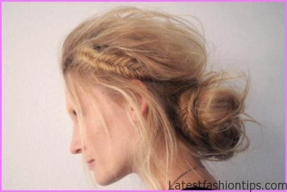 Accent Braid into Messy Bun Hairstyles_3.jpg
