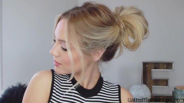 3 cute easy messy buns luxy hair 02