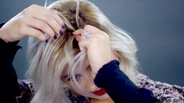 5 waterfall hairstyle tutorials 17