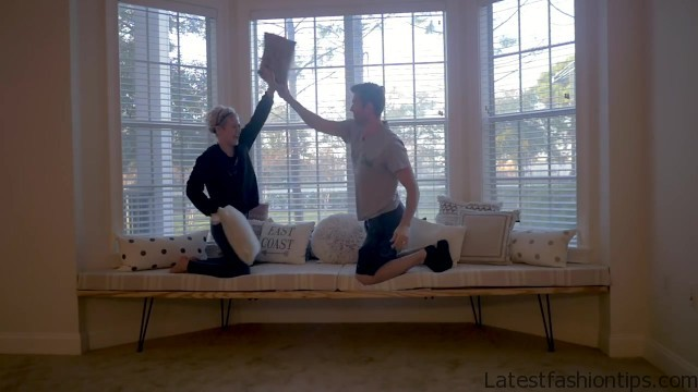diy how to bay window seat house update 03