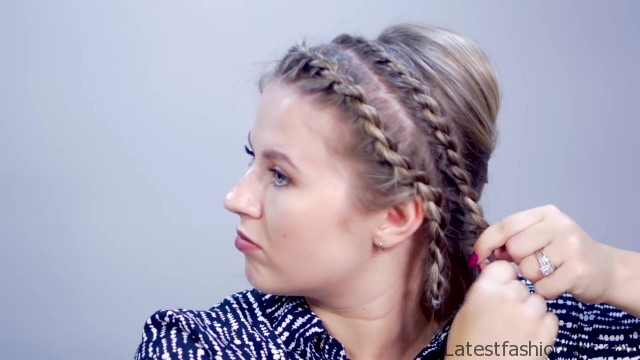 hairstyle of the day super easy rope braid twists short hairstyle 15