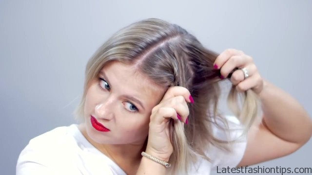 hairstyle of the day topsy tail crown hairstyle for short hair 06
