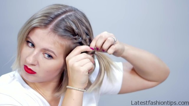 hairstyle of the day topsy tail crown hairstyle for short hair 08