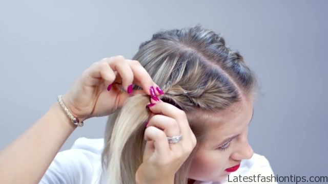 hairstyle of the day topsy tail crown hairstyle for short hair 13