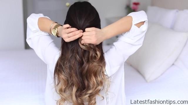 cute halfup halfdown hairstyle 12