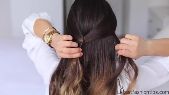 cute halfup halfdown hairstyle 13