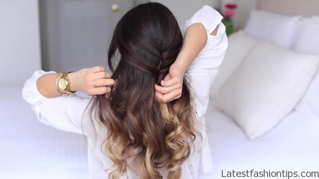 cute halfup halfdown hairstyle 14