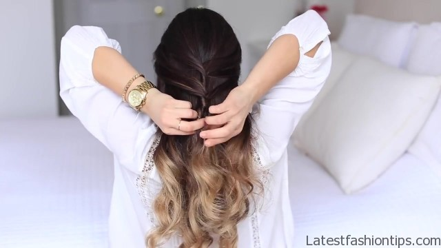 cute halfup halfdown hairstyle 15
