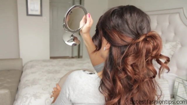 cute summer half up half down hairstyle 55