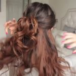 cute summer half up half down hairstyle 56