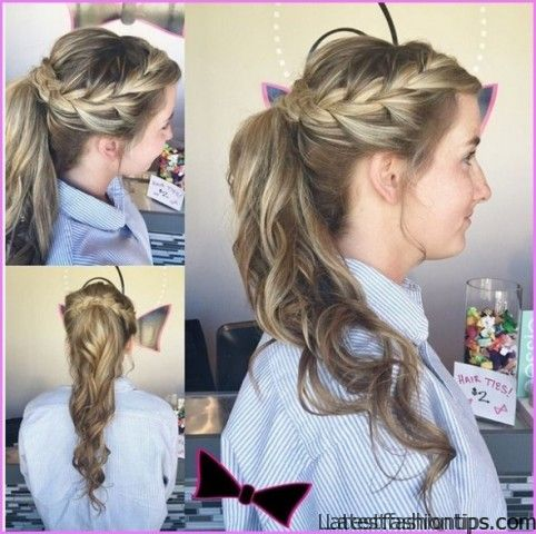 Flirty Side High Ponytail Hairstyles