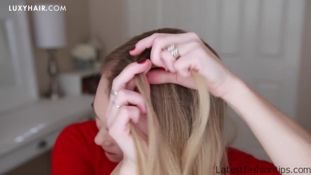 french braid crown last minute holiday hairstyle 09