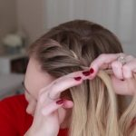french braid crown last minute holiday hairstyle 11