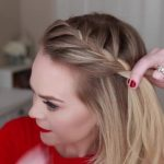 french braid crown last minute holiday hairstyle 12