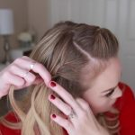 french braid crown last minute holiday hairstyle 15
