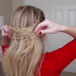 french braid crown last minute holiday hairstyle 19