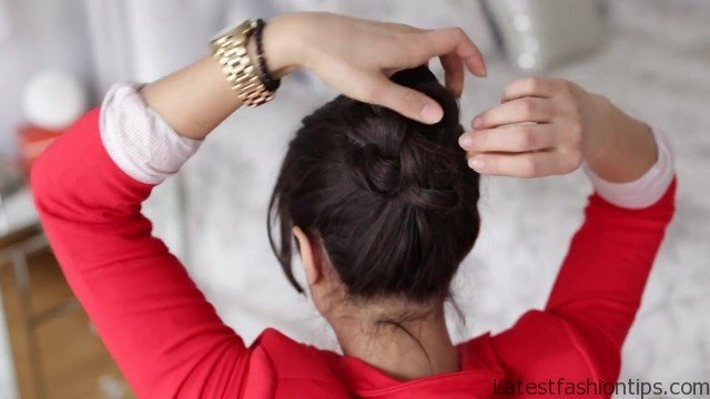 how to braided bun hair tutorial 11