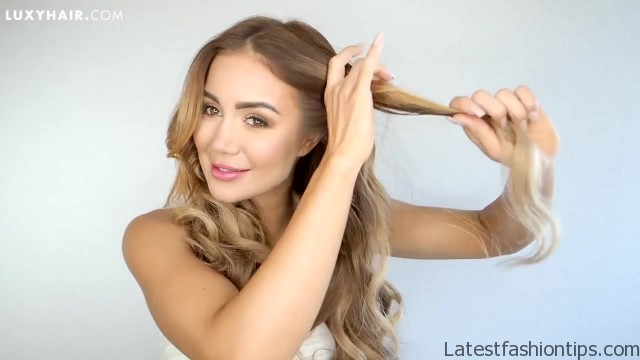 how to clip in and blend hair extensions with short hair luxy hair 49