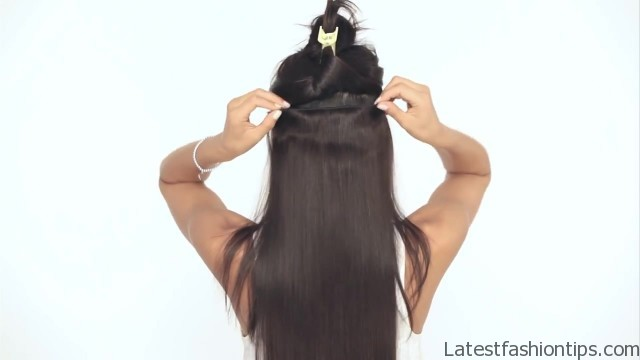 how to clip in luxy hair extensions 16 How to Clip In Hair Extensions