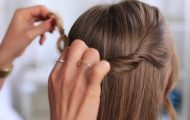layered braid hair tutorial 18