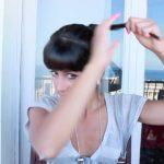 messy updo hair tutorial 17