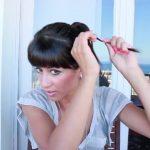 messy updo hair tutorial 18
