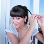 messy updo hair tutorial 19