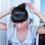 messy updo hair tutorial 23