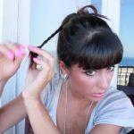 messy updo hair tutorial 26