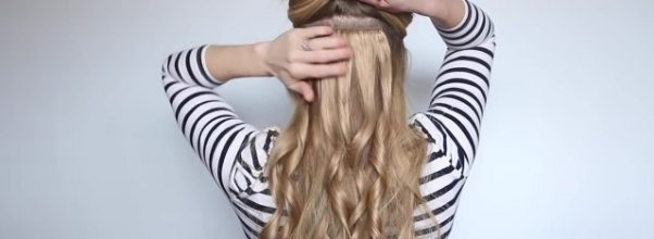 romantic prom hairstyle with luxy hair extensions missy sue 14