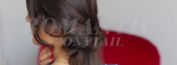soft romantic ponytail hairstyle 02