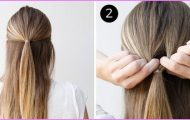 Twisted Everyday Double Ponytail Hairstyle_2.jpg