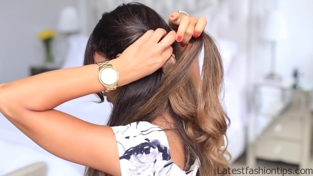twisted halfup do hairstyle 15