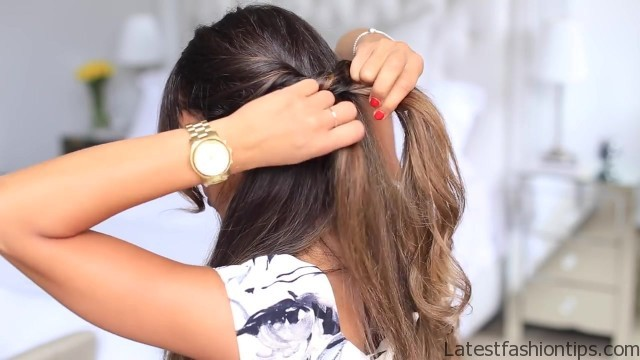 twisted halfup do hairstyle 16
