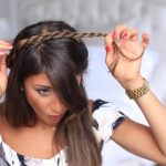 twisted halfup do hairstyle 23