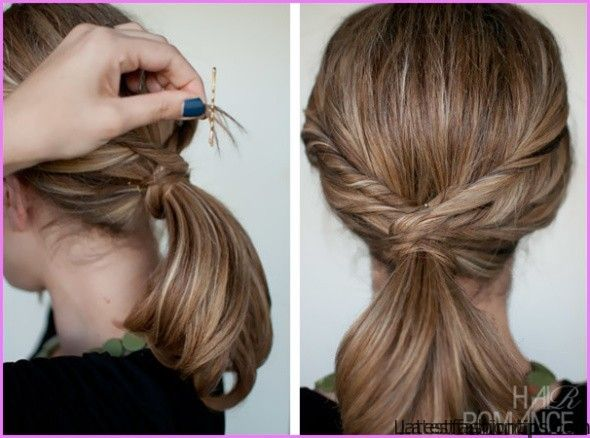 twisted pony tail hairstyle 0 Twisted Pony Tail Hairstyle
