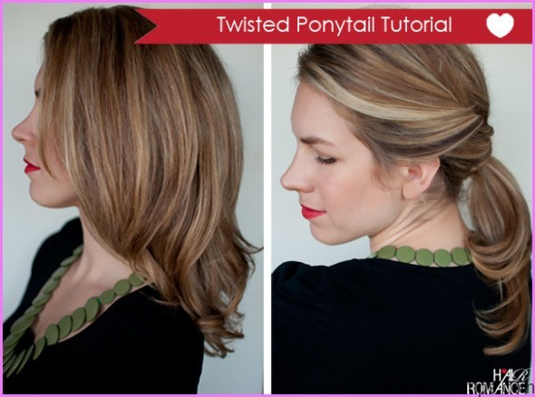 twisted pony tail hairstyle 10 Twisted Pony Tail Hairstyle