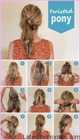 twisted pony tail hairstyle 12 Twisted Pony Tail Hairstyle