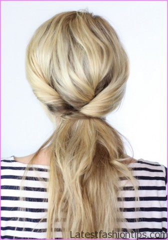 twisted pony tail hairstyle 16 Twisted Pony Tail Hairstyle