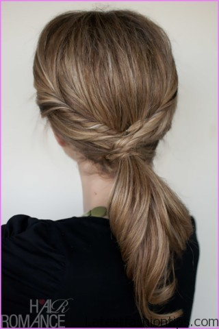 twisted pony tail hairstyle 4 Twisted Pony Tail Hairstyle