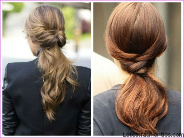 twisted pony tail hairstyle 5 Twisted Pony Tail Hairstyle