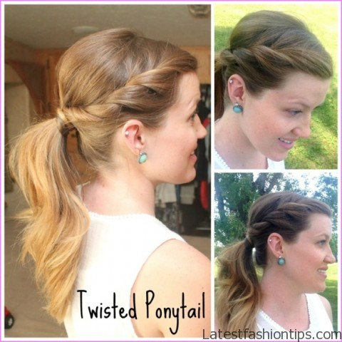 twisted pony tail hairstyle 6 Twisted Pony Tail Hairstyle