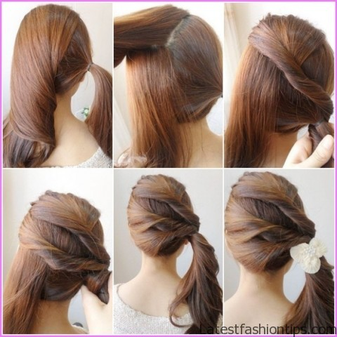 twisted pony tail hairstyle 9 Twisted Pony Tail Hairstyle